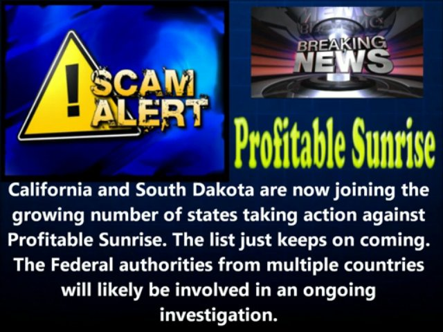 Profitable Sunrise Scam – Urgent Update – Breaking News!