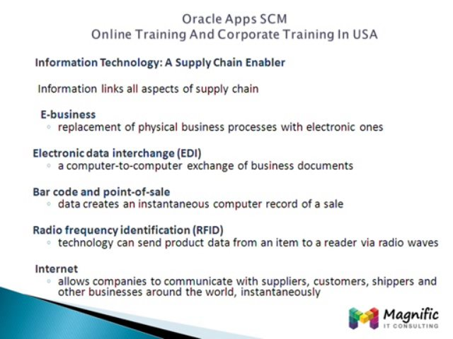 Oracle Apps Scm Online Training And Corporate Training In Usa