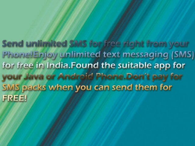 Send Free SMS to any Mobile network in India.