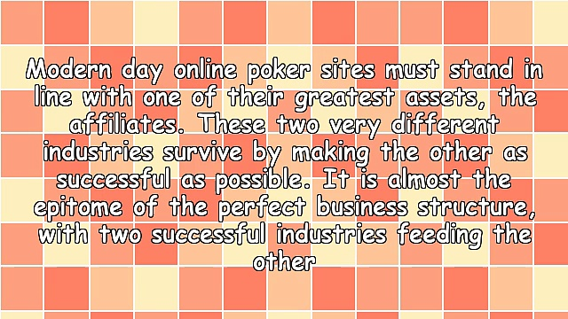 Poker Affiliate Program Marketing: Affiliates Enjoying Continued Success