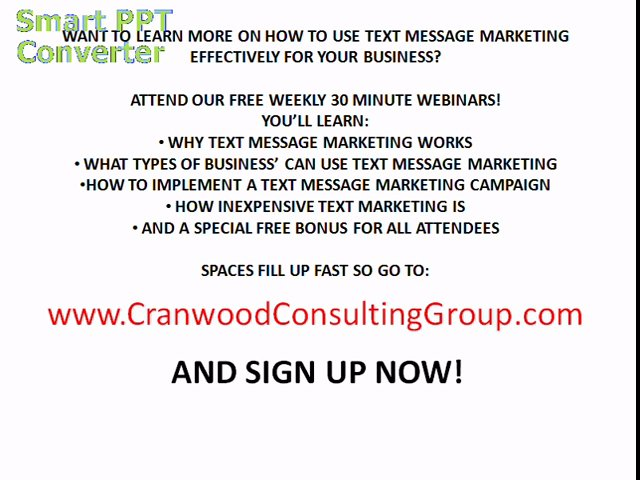 Text Message Marketing-FREE Text Message Marketing Webinar