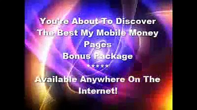 My mobile money pages – mobile marketing business