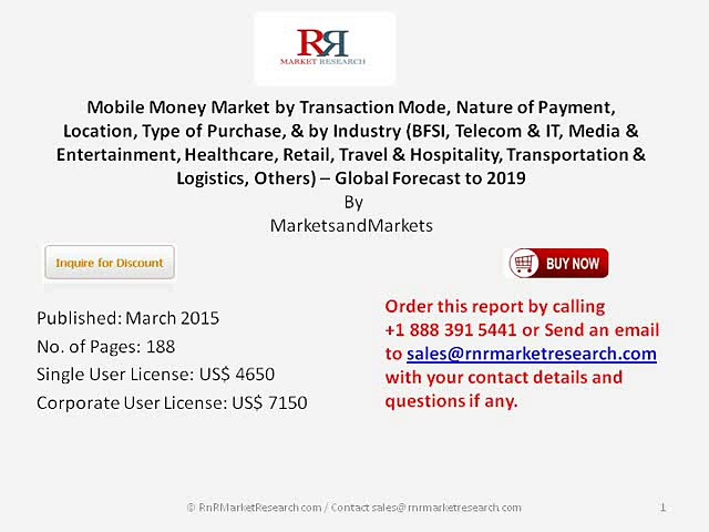 Mobile Money Market Analysis 2019 on Market Share and Opportunities
