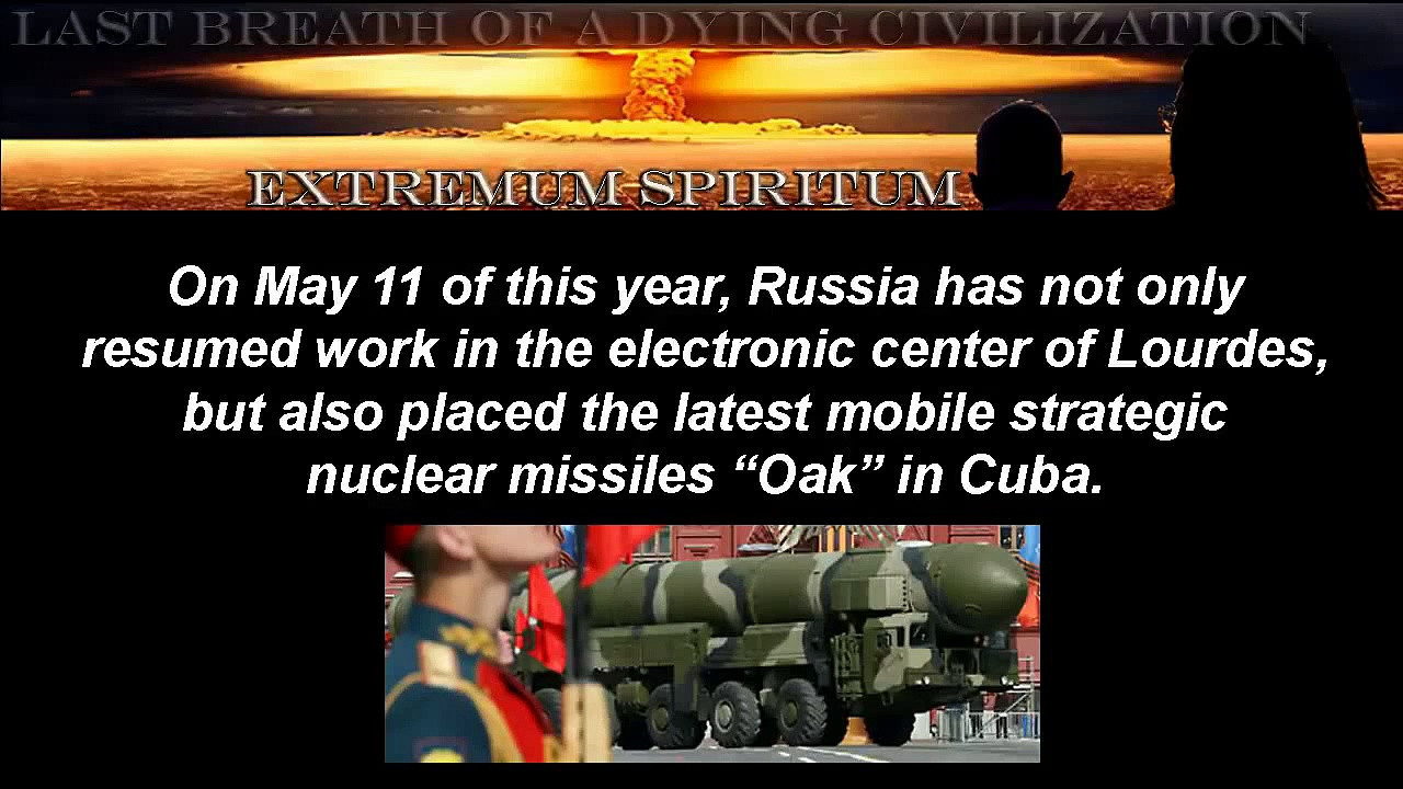 Russia Installs mobile strategic nuclear missiles in Cuba! 08/11/2012