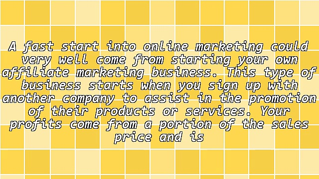 Get A Fast Start With Affiliate Marketing