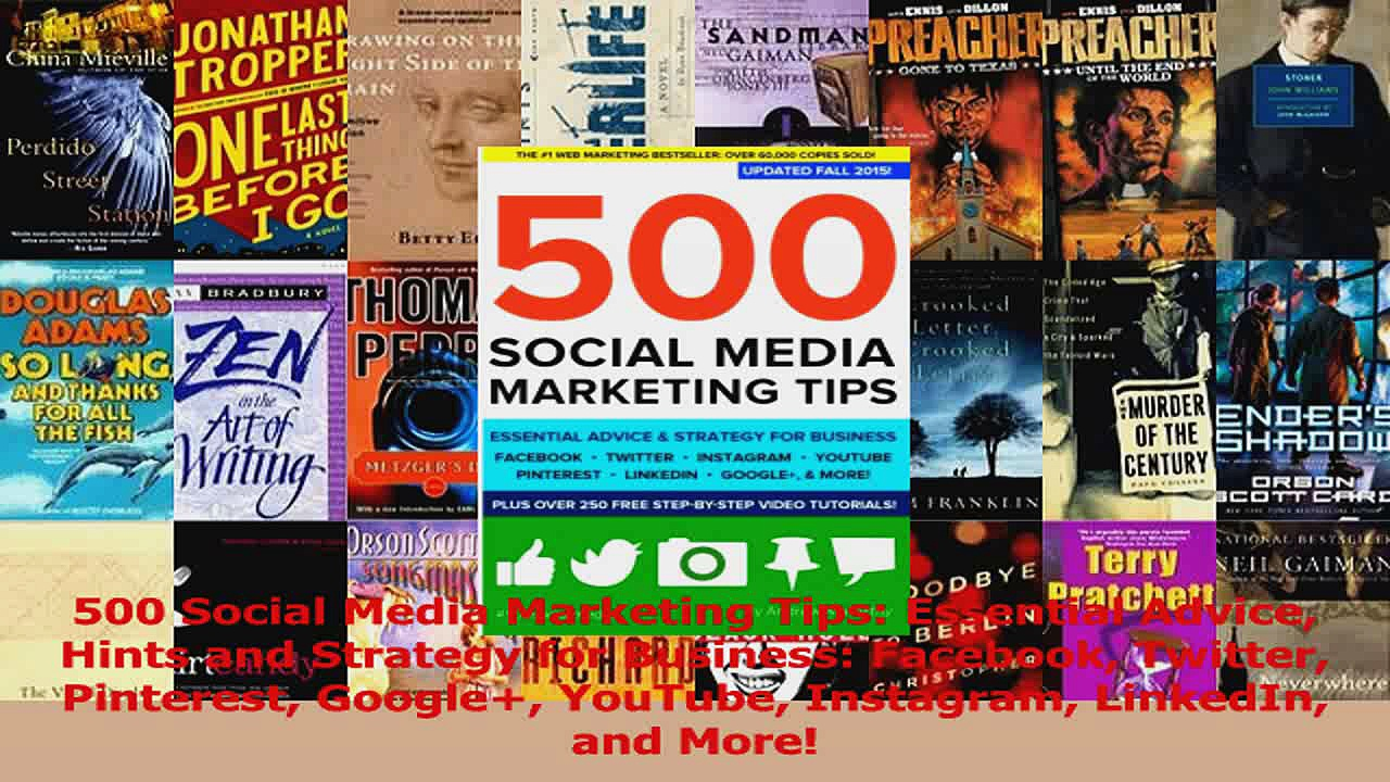 PDF Download  500 Social Media Marketing Tips Essential Advice Hints and Strategy for Business Download Full Ebook