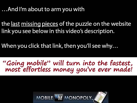Make Money with Cell Phone Marketing – Mobile Monopoly