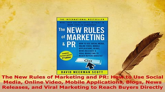 PDF  The New Rules of Marketing and PR How to Use Social Media Online Video Mobile Download Online