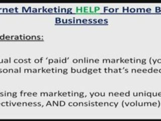 Internet Marketing Help For Network Marketing Home Business