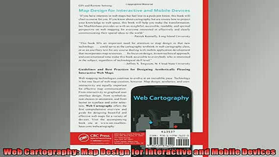 READ THE NEW BOOK   Web Cartography Map Design for Interactive and Mobile Devices  BOOK ONLINE