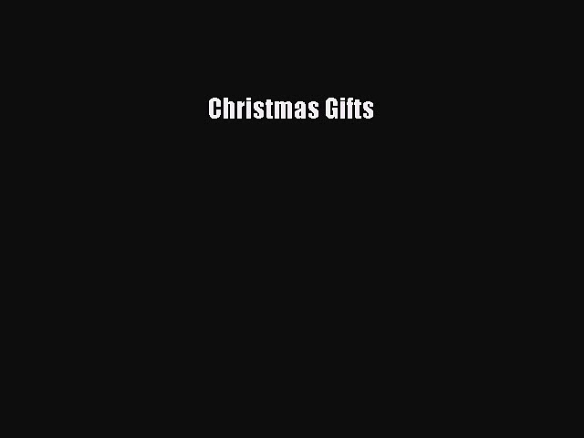PDF Christmas Gifts  EBook