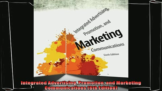 book online   Integrated Advertising Promotion and Marketing Communications 6th Edition