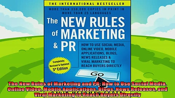 different   The New Rules of Marketing and PR How to Use Social Media Online Video Mobile