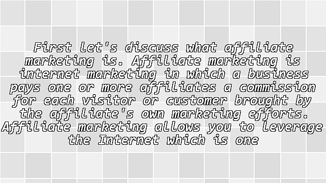 Affiliate Marketing: The Ins and Outs