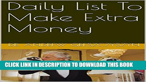 [PDF] Daily List To Make Extra Money Full Online