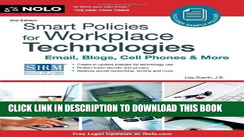 [PDF] Smart Policies for Workplace Technology: Email, Blogs, Cell Phones   More Full Online
