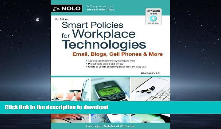 READ PDF Smart Policies for Workplace Technology: Email, Blogs, Cell Phones   More READ PDF BOOKS