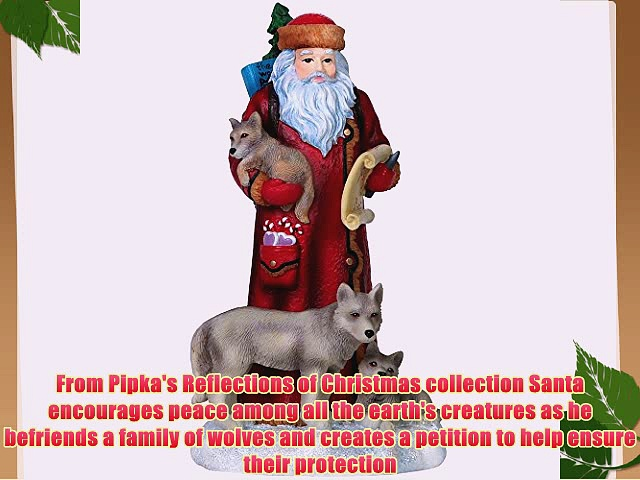 Pipka Christmas Gifts Peace To All Santa Limited Edition Resin Sculpture #7151209