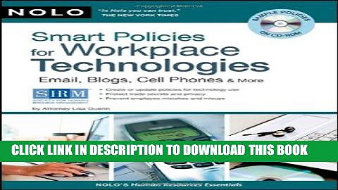 [PDF] Smart Policies for Workplace Technology: Email, Blogs, Cell Phones   More Popular Online