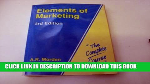 [PDF] Elements of Marketing (Complete Course Texts) Full Online