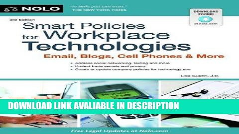 FREE [PDF] Smart Policies for Workplace Technology: Email, Blogs, Cell Phones   More Free Audiobook