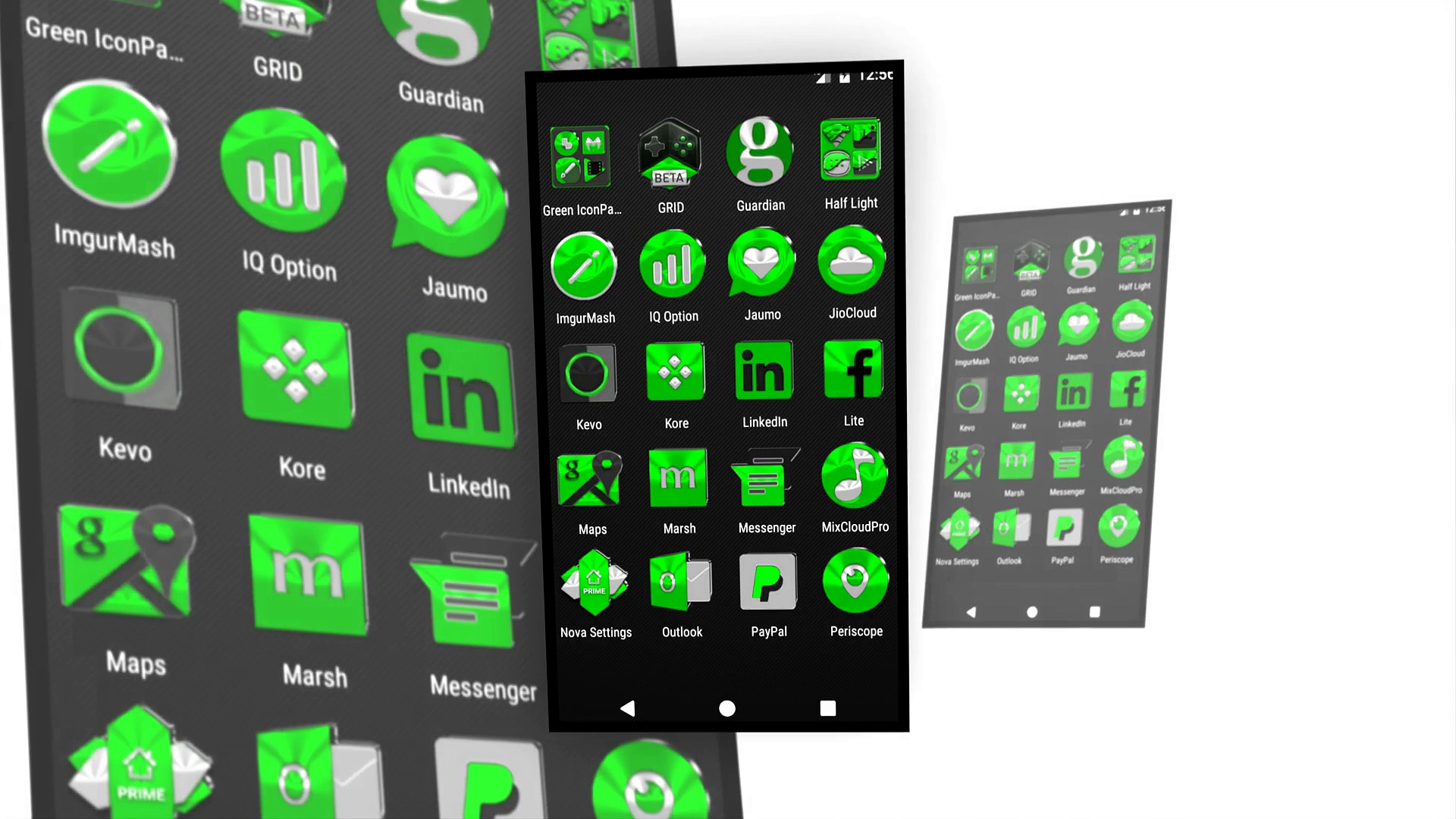 Green Icon Pack for Android Phones and Tablets FREE