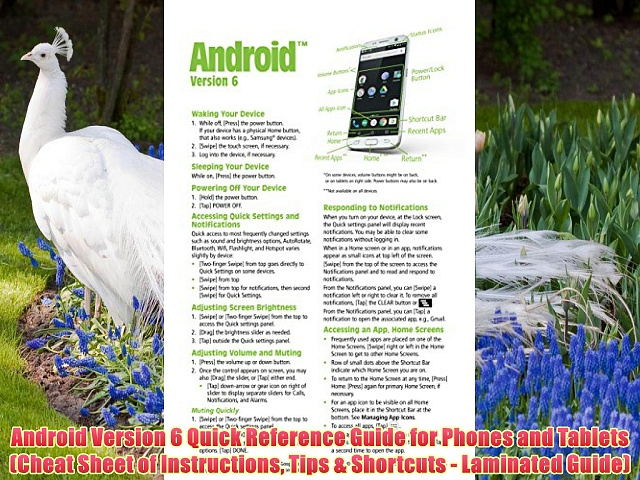 Download Android Version 6 Quick Reference Guide for Phones and Tablets (Cheat Sheet of Instructions