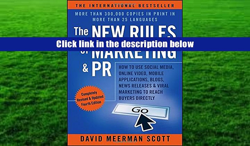 Ebook  The New Rules of Marketing   PR: How to Use Social Media, Online Video, Mobile