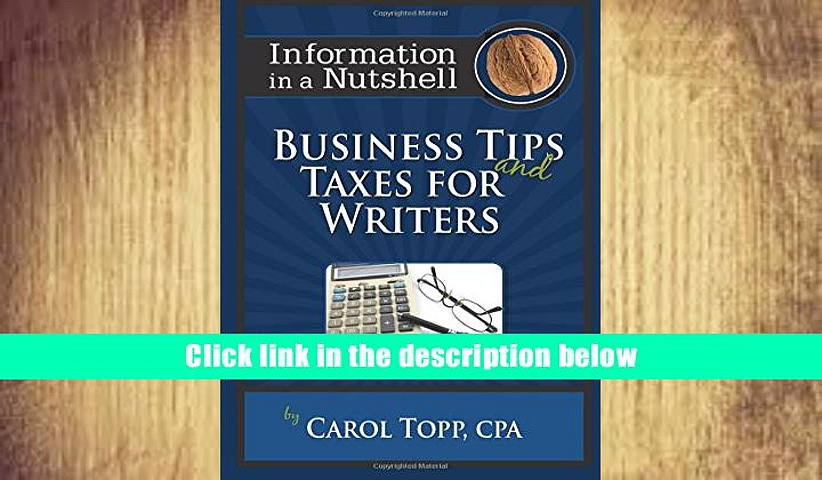 Best PDF  Business Tips and Taxes for Writers Read Online
