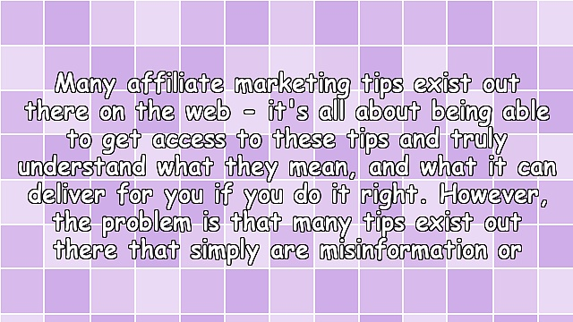 Affiliate Marketing Tips You Should Avoid
