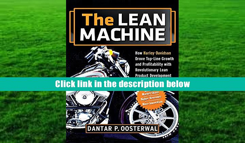 PDF  The Lean Machine: How Harley-Davidson Drove Top-Line Growth and Profitability with