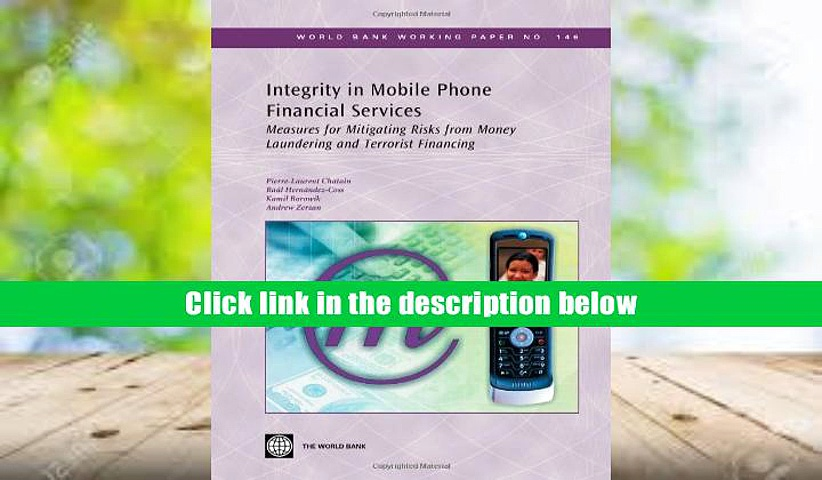 PDF [Free] Download  Integrity in Mobile Phone Financial Services: Measures for Mitigating Risks