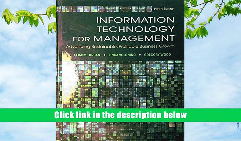 [PDF]  Information Technology for Management: Advancing Sustainable, Profitable Business Growth