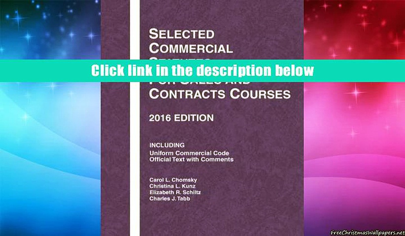 Audiobook  Selected Commercial Statutes for Sales and Contracts Courses (Selected Statutes) Carol