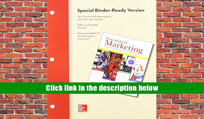 PDF [Download] Essentials of Marketing: A Marketing Strategy Planning Approach Book Online