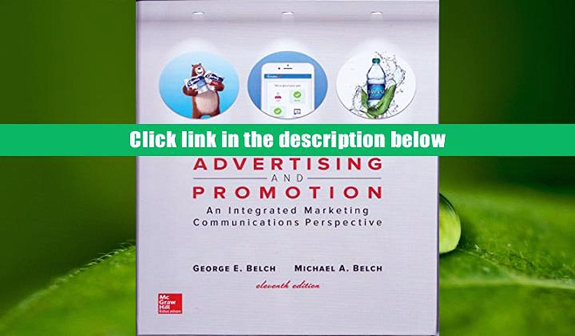 PDF  Advertising and Promotion: An Integrated Marketing Communications Perspective (Irwin