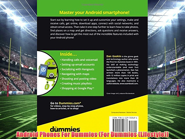 Download Android Phones For Dummies (For Dummies (Lifestyle)) READ BOOK ONLINE