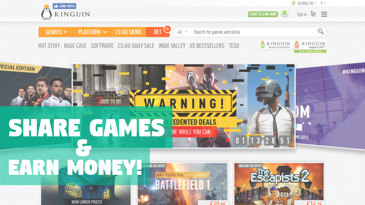 TOP 5 game stores affiliate programs | Share games & earn money