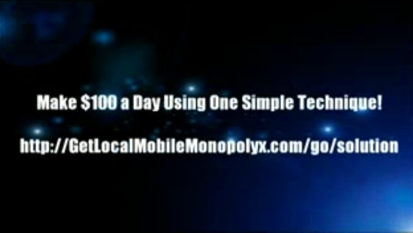 """ Local Mobile Monopoly – Make $30k/m Texting (view mobile)  