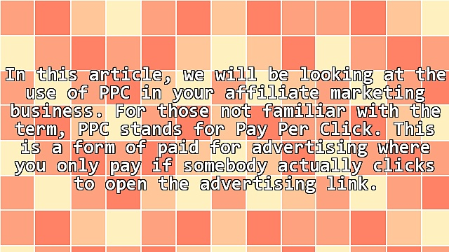 PPC And Your Affiliate Marketing Business