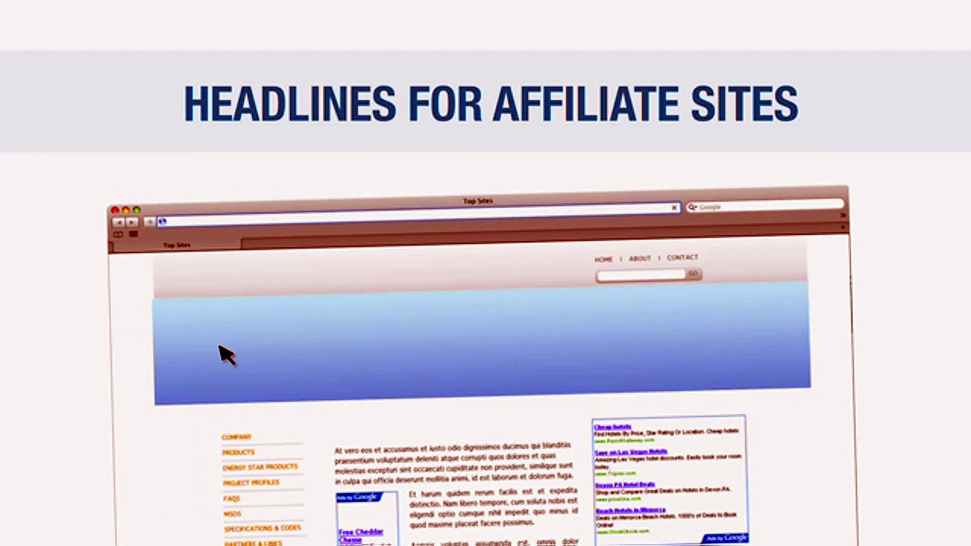 Affiliate Marketing For Beginners 18 | Clickbank | Headlines for Affiliate Sites
