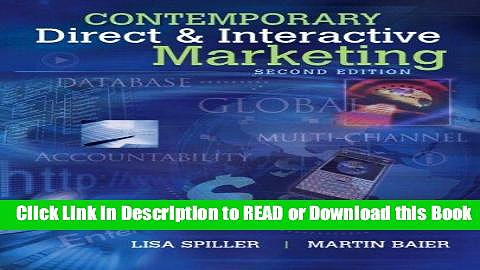 Free PDF Download Contemporary Direct   Interactive Marketing (2nd Edition) Free ePub Download