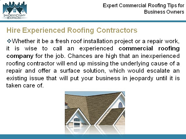 Expert Commercial Roofing Tips for Business Owners