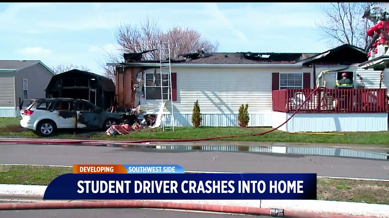 Student Driver Accidentally Hits Gas, Drives into Mobile Home Sparking Fire
