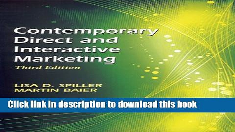 Read Contemporary Direct and Interactive Marketing (Third Edition)  PDF Free