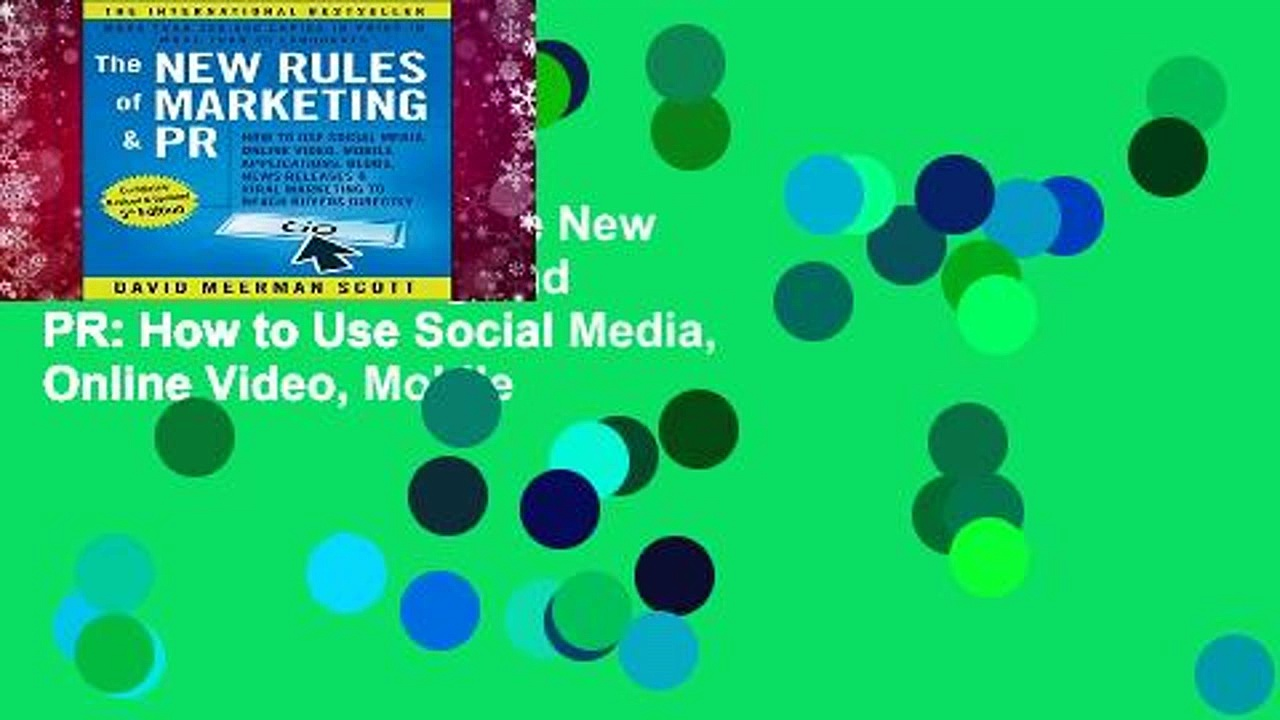 About For Books  The New Rules of Marketing and PR: How to Use Social Media, Online Video, Mobile