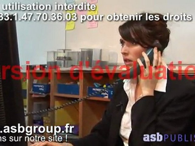 Sales and negociation video training for courses sales Customer services on tel Error1 (EN25 04)