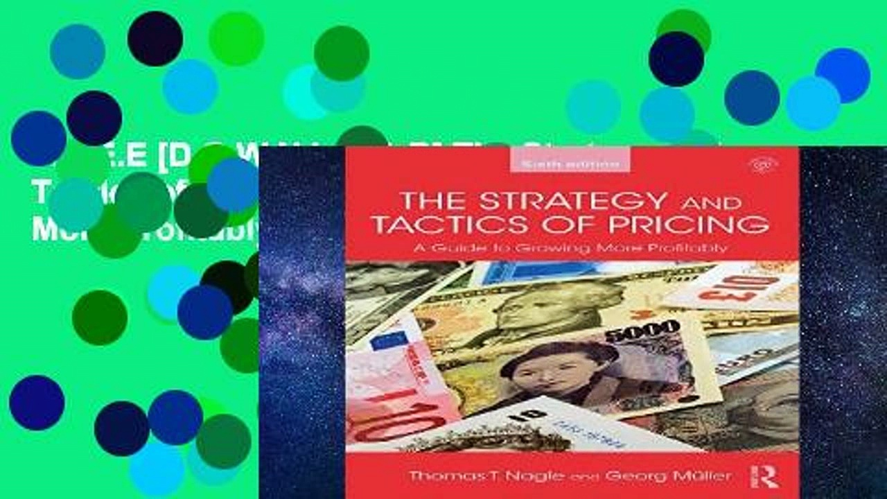 F.R.E.E [D.O.W.N.L.O.A.D] The Strategy and Tactics of Pricing: A Guide to Growing More Profitably