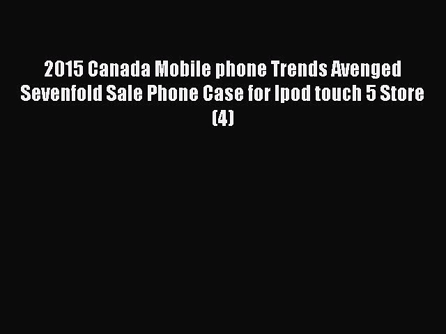 Download 2015 Canada Mobile phone Trends Avenged Sevenfold Sale Phone Case for Ipod touch 5
