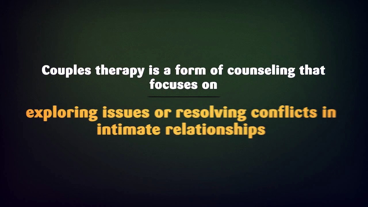 Couples Therapy – How does it work?